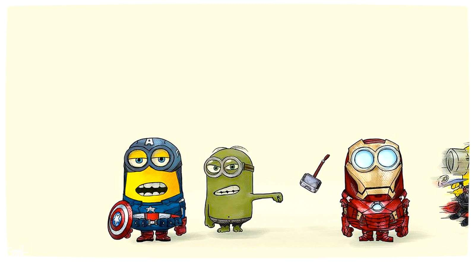 Vamers geekosphere minions as the avengers image