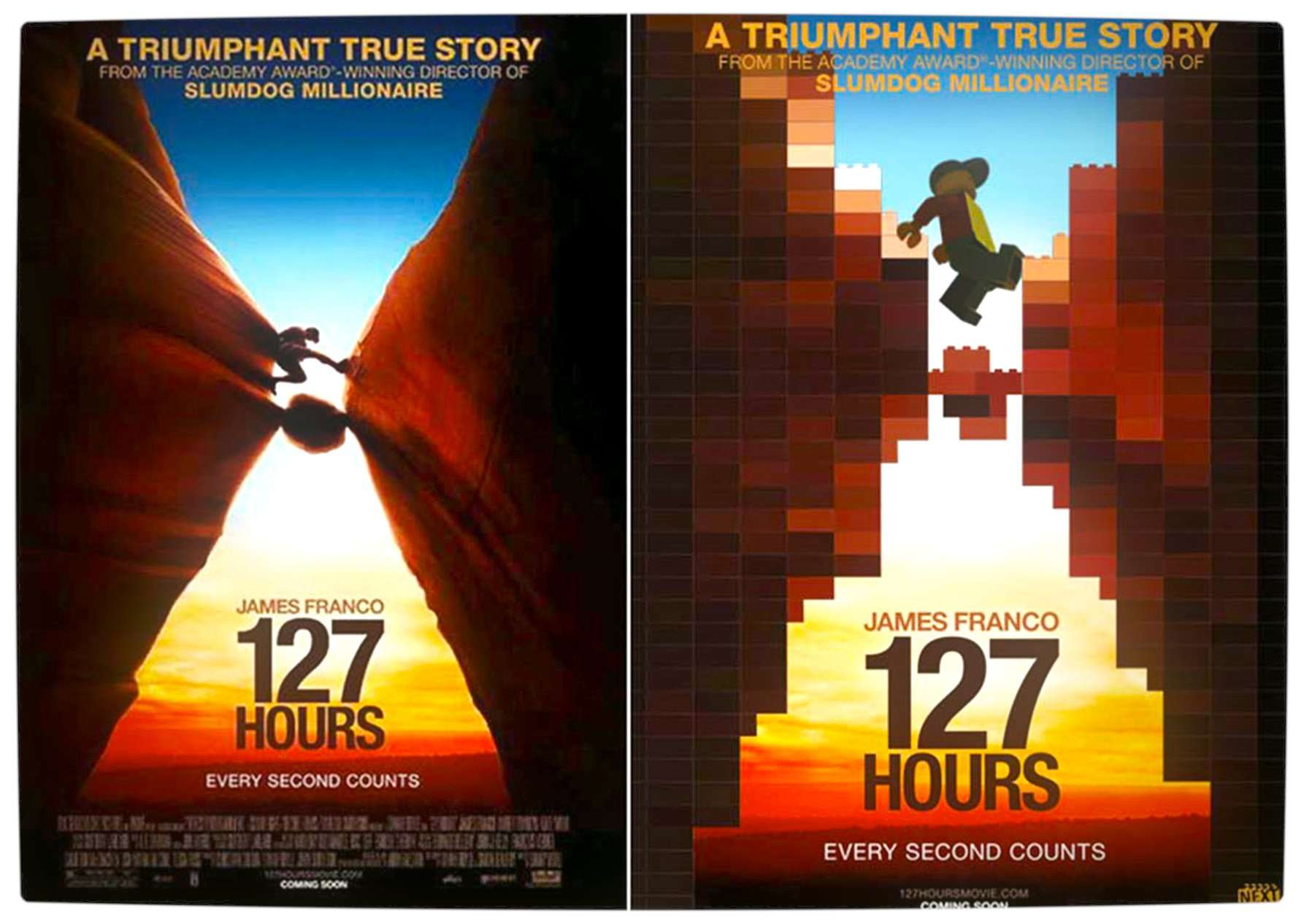 blockbuster movie posters recreated using lego characters
