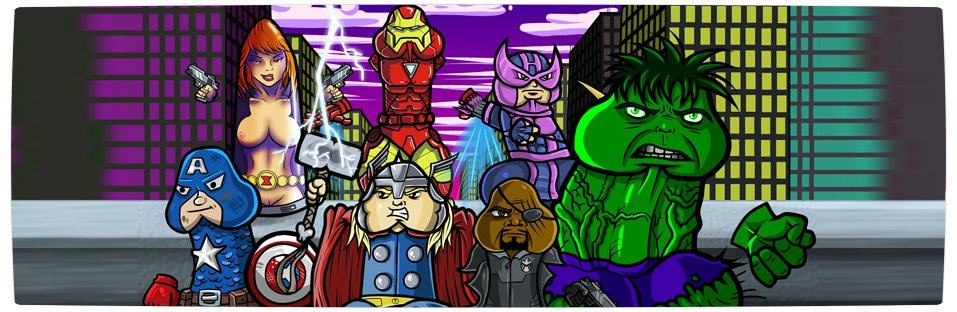 Vamers - Ermahgerd - Earth's Mightiest Sex Toys Assemble as The Avengers Dildos - Banner