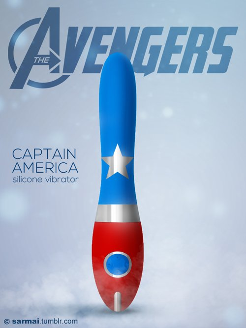 Vamers - Ermahgerd - Earth's Mightiest Sex Toys Assemble as The Avengers Dildos - Captain America