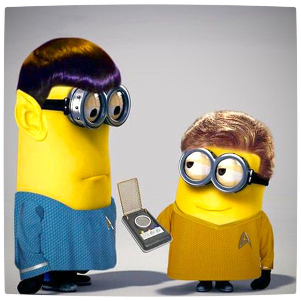 Vamers - Artistry - Star Trek Minions Banana Me Up - Original Spock and Captain James T. Kirk